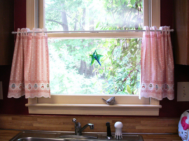 Kitchen Cafe Curtains Over Sink Flickr Photo Sharing