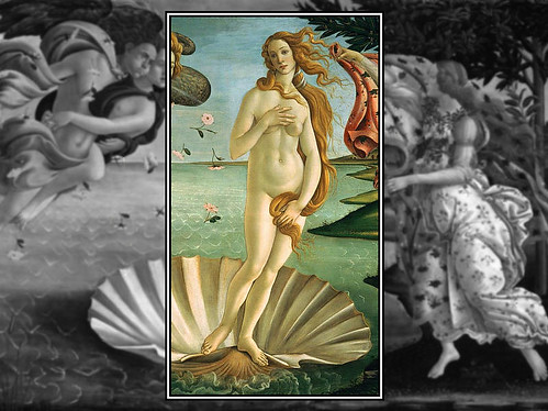Birth of venus, Venus on the Half-Shell