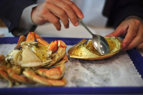 Crab photo from Flickr user offstandard