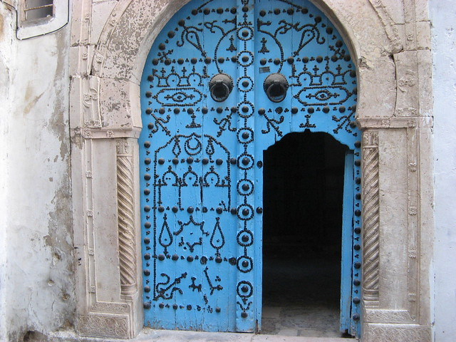 Door in Tunis, Tunisia.