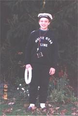 Sean as a Titanic sailor