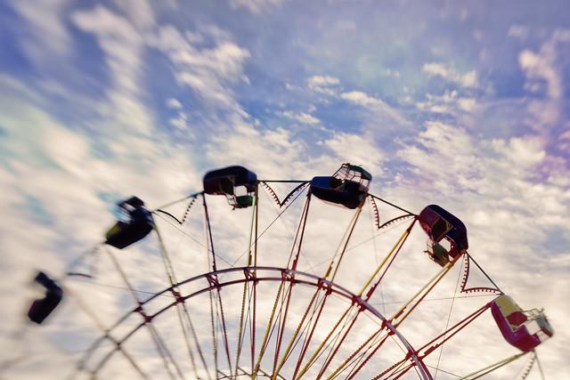 The rainbow and the Ferris wheel