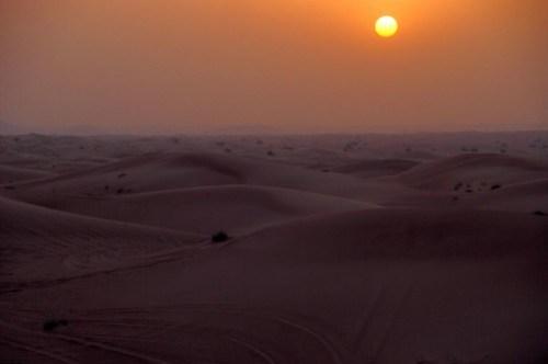 Sun set desert