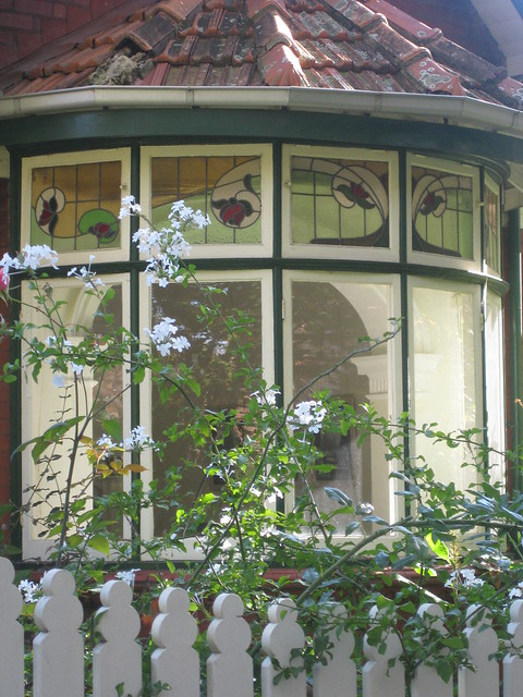Art Nouveau Stained Glass Bay Window - Elwood