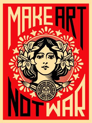 Make Art Not War Poster by DRheins