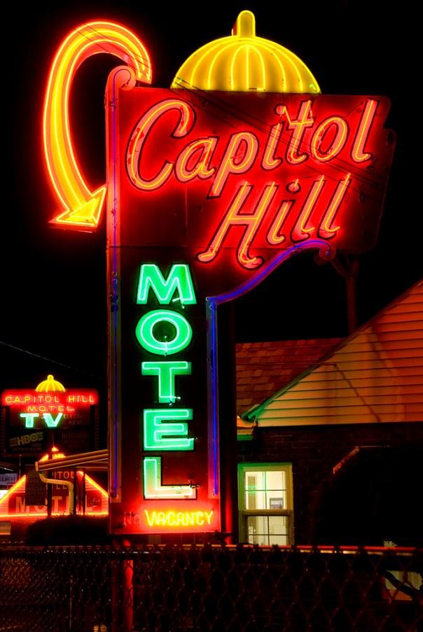 Capitol Hill Motel - 9110 SW Barbur Boulevard, Portland, Oregon U.S.A. - August 29, 2008