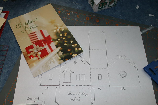 Christmas Card Putz Houses Flickr Photo Sharing