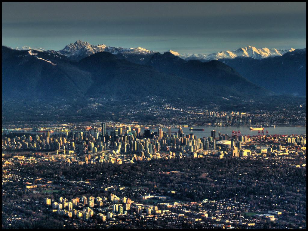 City, Suburb, Ocean, Mountain