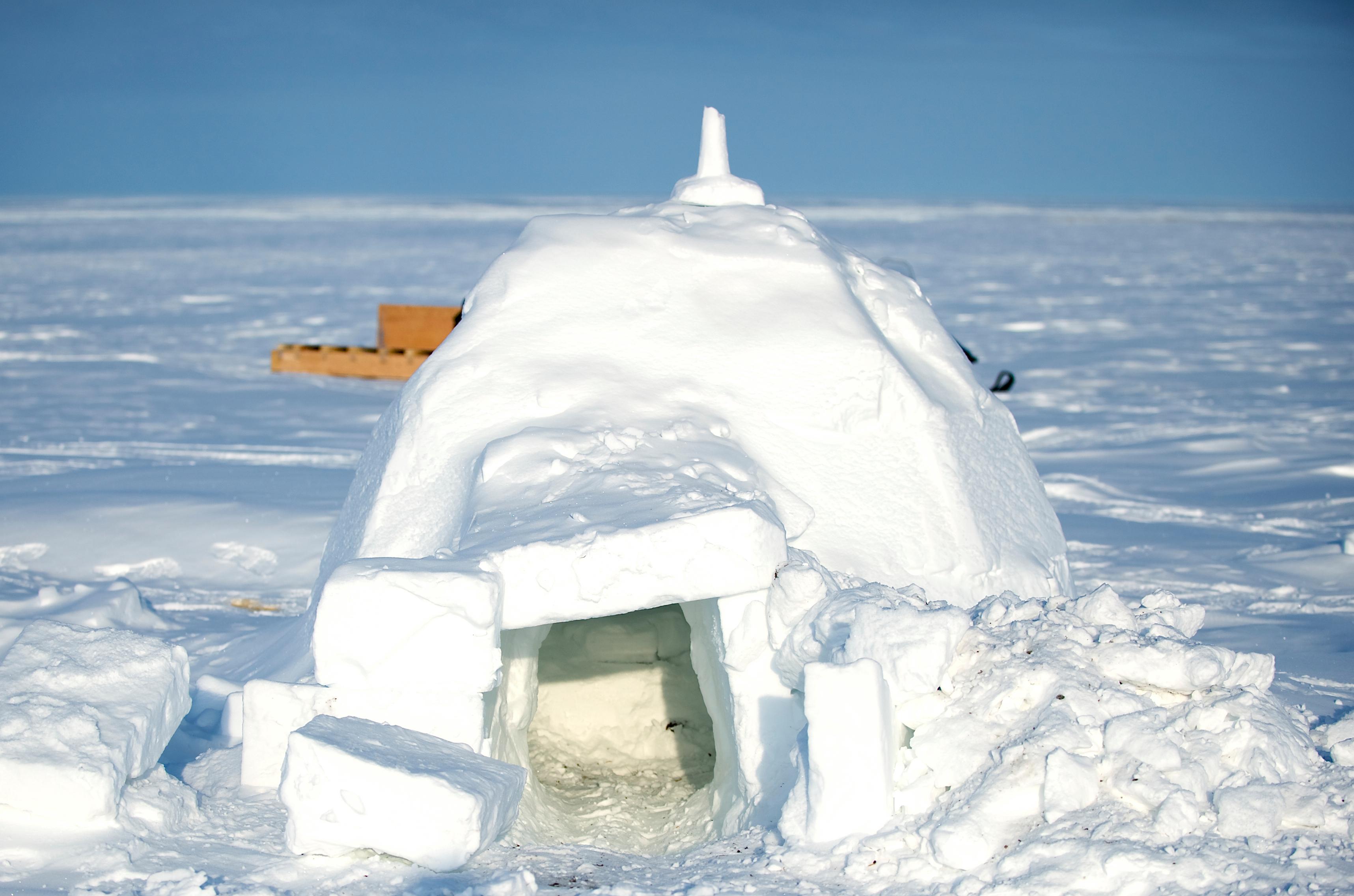 Igloo In Alert Nunavut Flickr