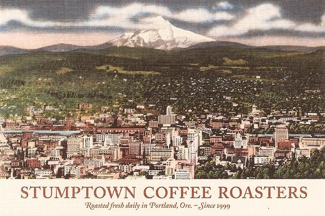 Postcard advertising Stumptown