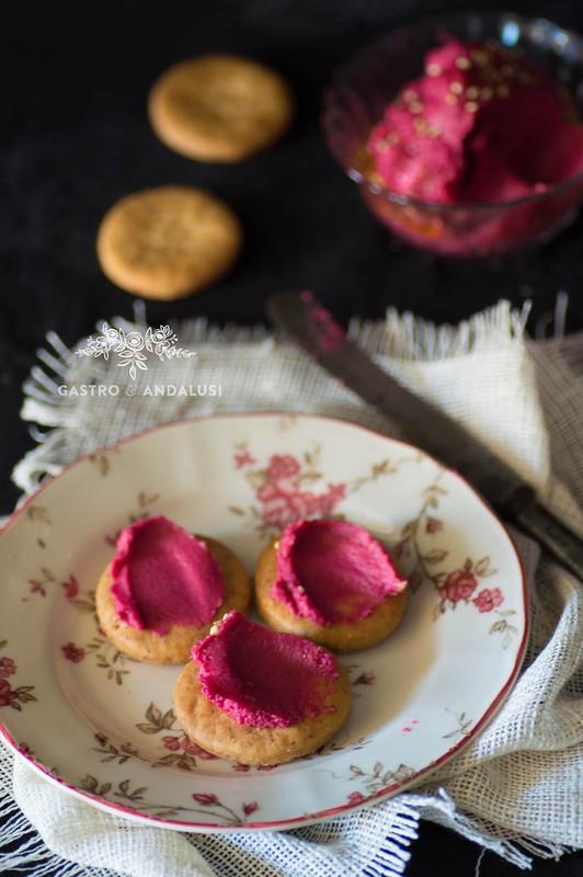 receta de hummus con remolacha