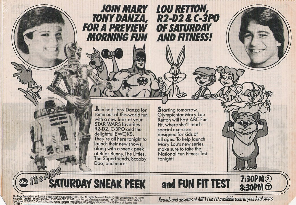 ABC Saturday morning cartoons ad, 1985