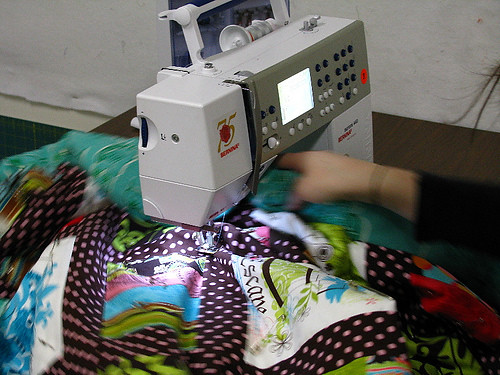 Quilting at the Urban Qulting League
