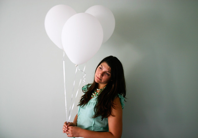 Sheila and balloons