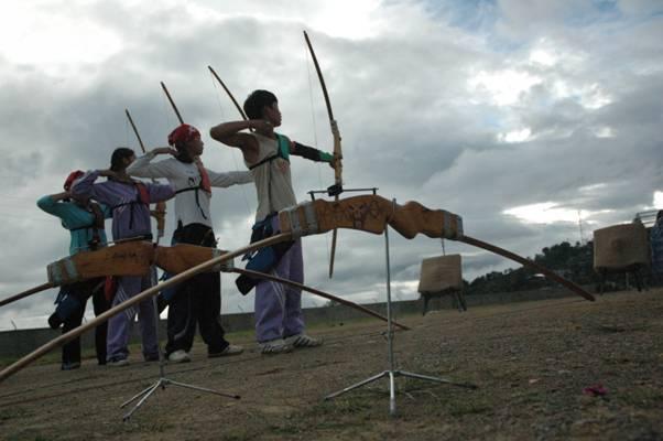 Bulls Eye - Archers taking aim, Kohima, Nagaland, India