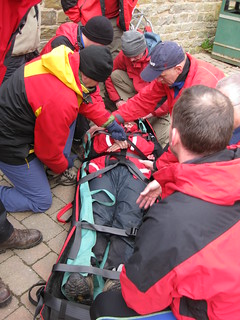 Stretcher Practice - Becky loaded
