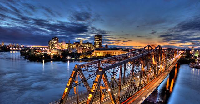 Alexandria Bridge Ottawa Panorama Hdr Flickr Photo