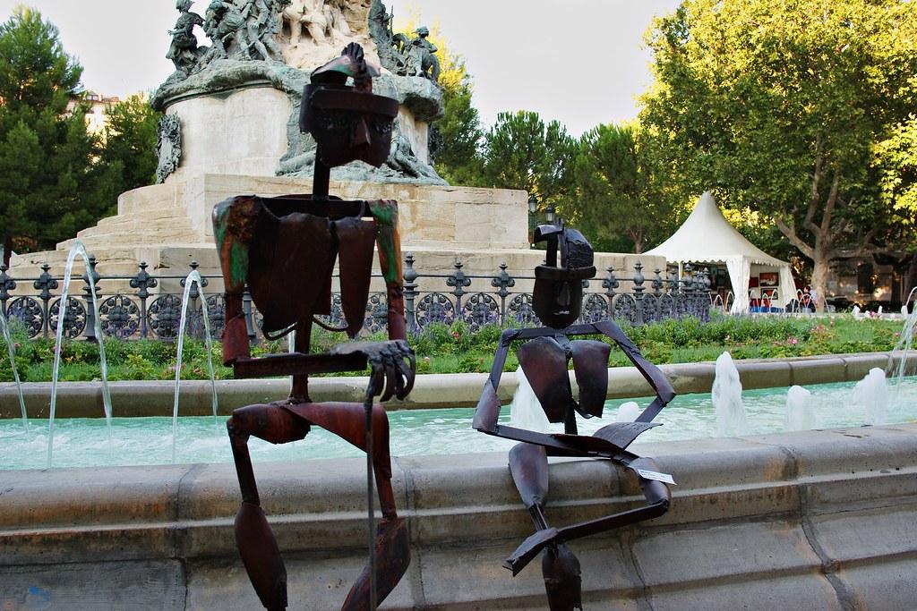 Esculturas en la Plaza de los Sitios