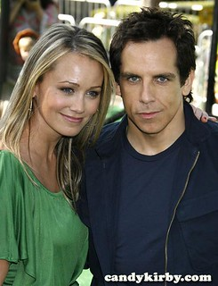 "Christine Taylor and Ben Stiller at the ""Madagascar: Escape 2 Africa"" Premiere"