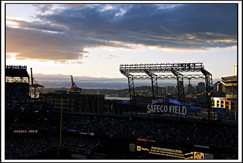 Sunset at Safeco Field