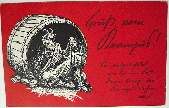 Vintage Christmas Postcard Krampus Explore Riptheskull
