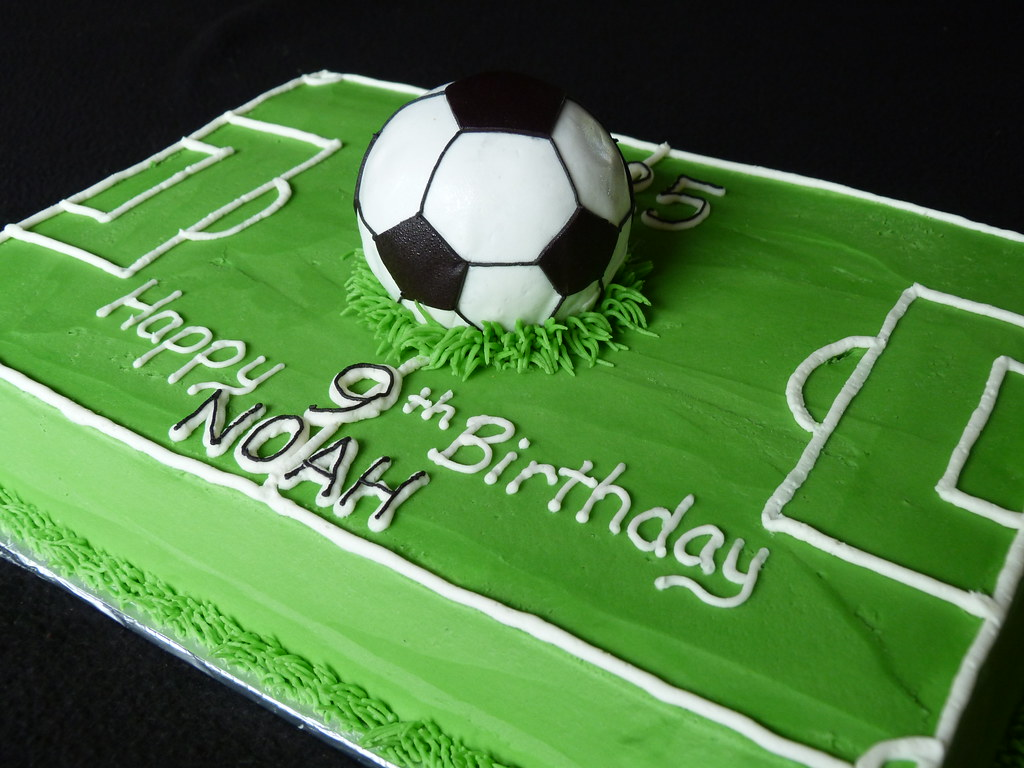 Soccer Field One Giant Cake Ball Soccer Ball Fondant
