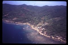 Roatan Honduras seen from the air