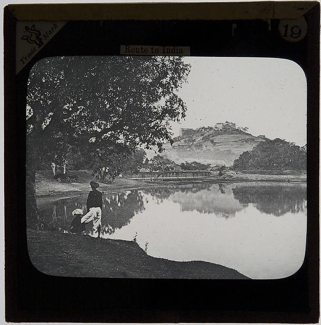 Parbutti, Poona, India, c.1900 (Parvati Hill, mula-mutha river, Pune - Maharashtra, Pune, India)