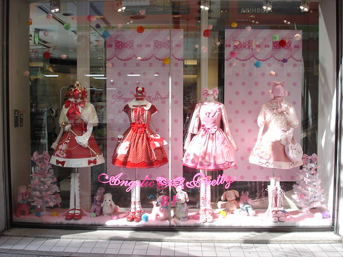 Angelic Pretty window display by laced.candy