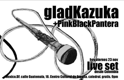 pinkBlackPantera y Gladkazuka Live en Mex
