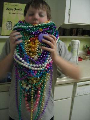 mardi gras bead overload