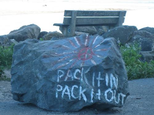 Peace Rock, Bolinas, California by DRheins