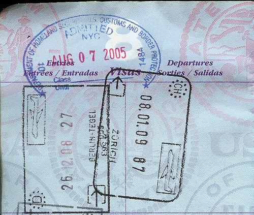 Switzerland Schengen Stamp