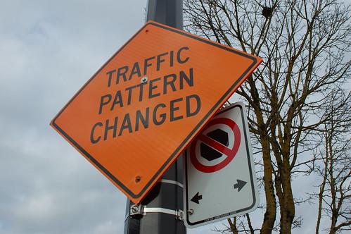 Traffic pattern changed