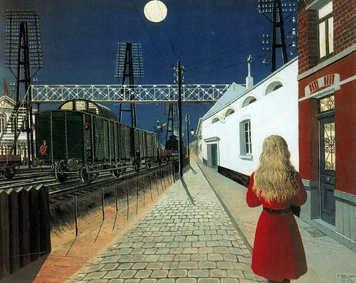 Delvaux, Paul (1897-1994) - 1955 Solitude