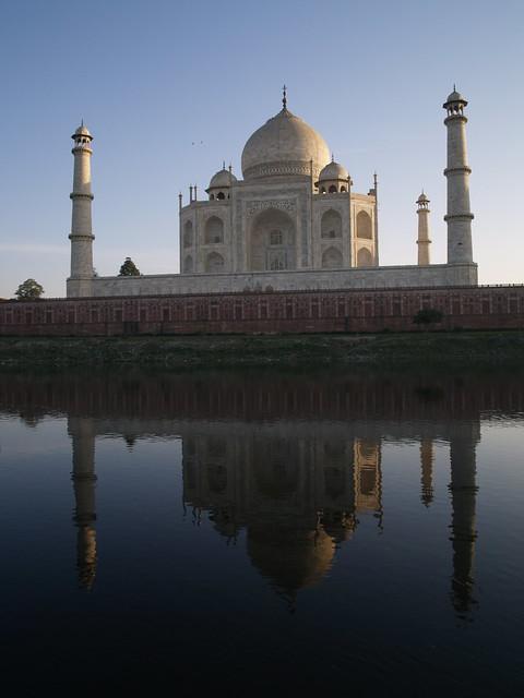 Taj Reflected In River