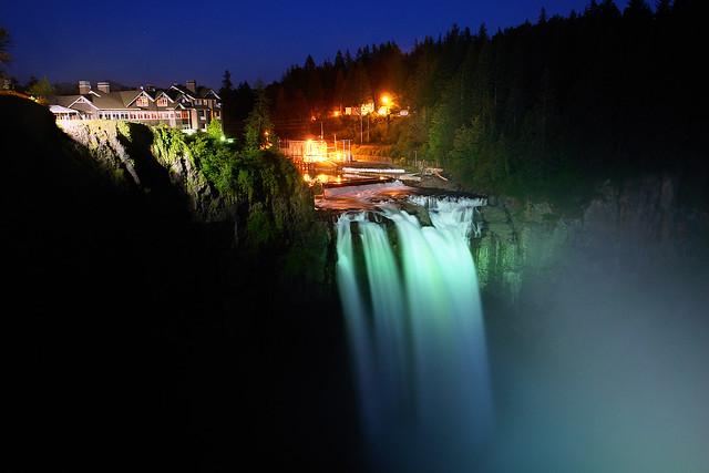 Snoqualmie Falls At Night Flickr Photo Sharing