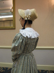 1820s Cotton Day Dress and Bonnet