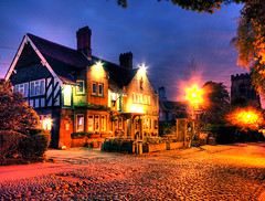 Rams Head Pub Grappenhall, Cheshire at Night