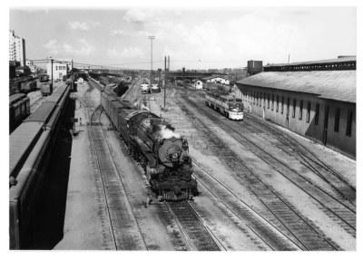 Texas & Pacific Westerner in Texarkana in 1950