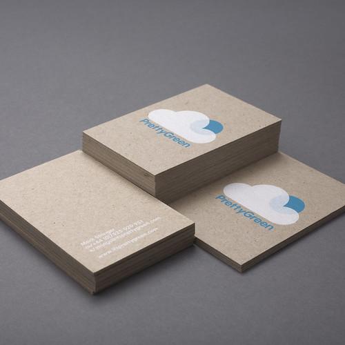 Pretty Green Business Cards | Design Friendship