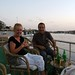 Barry & Vera on the terrace by the Nile at the Isis Hotel, Aswan