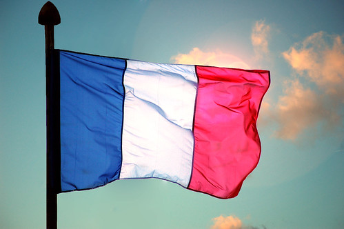 French Flag with Sun