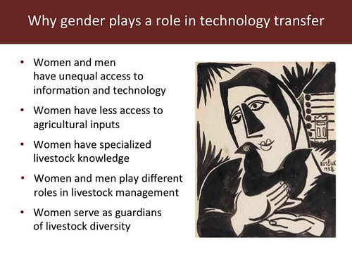 Slide 9: 'Women and Livestock', 7 Mar 2014