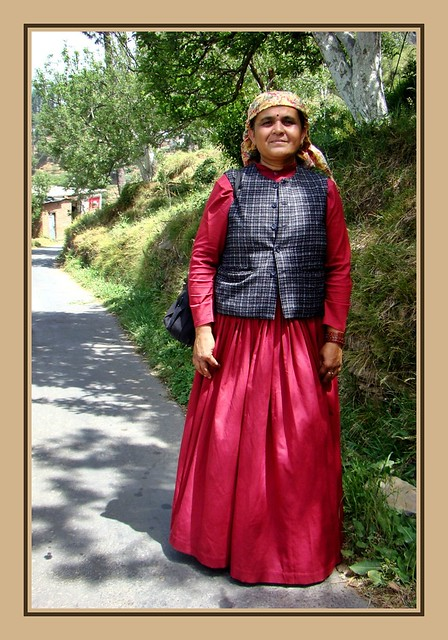 Himachali Lady In Traditional Ghagra Dress Most Of The