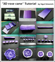 """3D rose cane"" Tutorial"