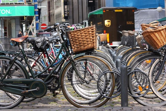 Bicycles in a square