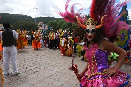 Pre-Easter parade, Cusco