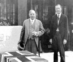 Laying of cornerstone, 10 August 1937 by Governor Towers and Prime Minister Mackenzie King