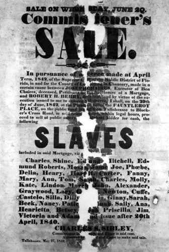Advertisement of slave sale: Leon County, Florida